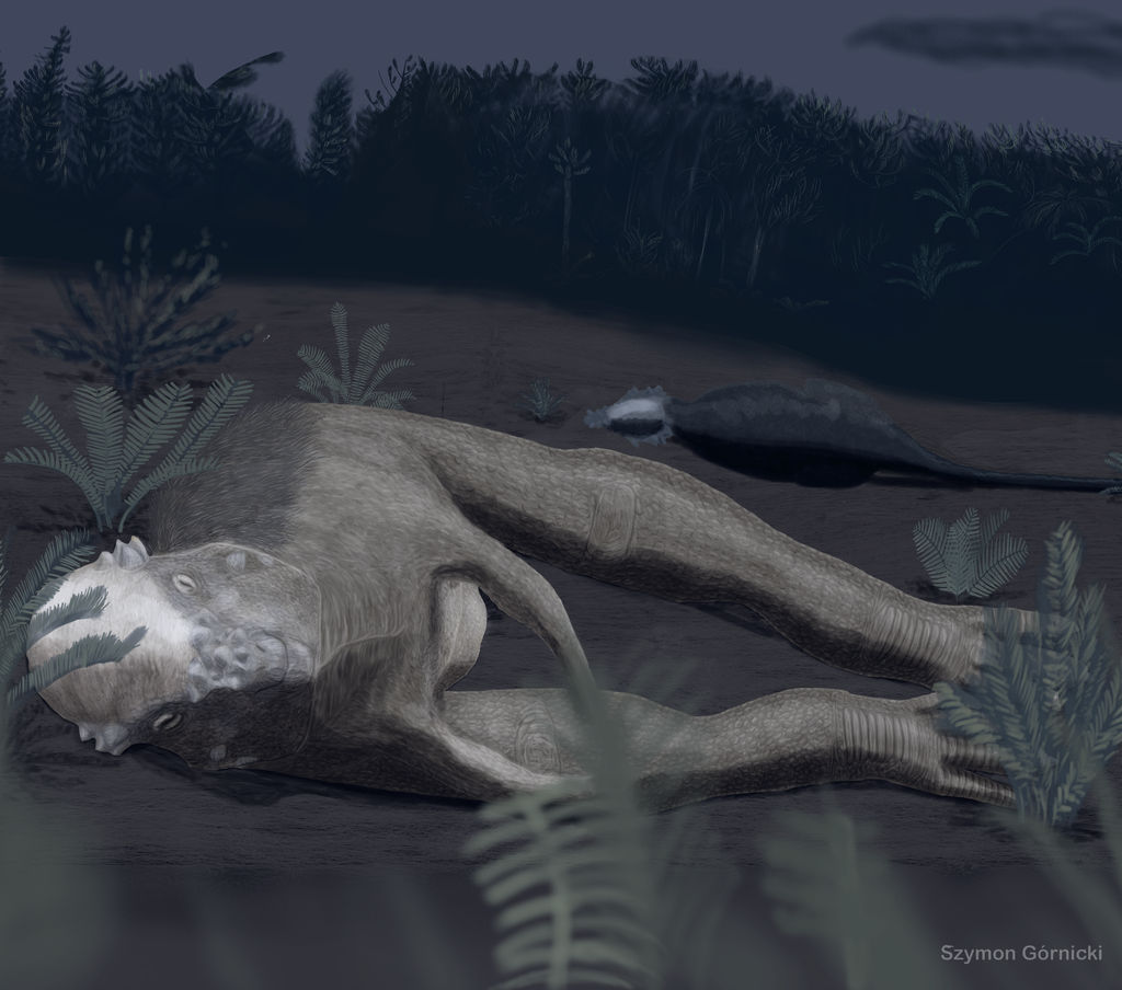 sleeping_pachycephalosaurus_by_szymoonio_dbow6c5-fullview